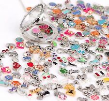 Wholesale 30Pcs Mix Charms lots Floating for Living Memory Locket Bracelets HOT
