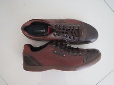 Clarks Men's Nate Edge Chestnut Leather Lace Up Sneakers  Size: UK 10.5G