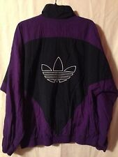 Vintage adidas Full Zip Track Jacket Windbreaker Purple & Blue Trefoil Large