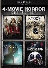 NEW!!! Blumhouse 4-Movie Horror Coll - The Veil/Mercy/Visions/Mockingbird 2-DVD