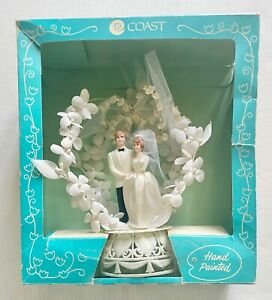Vintage COAST Wedding Topper Hand Painted 1980s