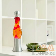 Exotique Lava lampe 42cm rouge-orange à lave magma de table