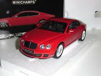 BENTLEY CONTINENTAL GT 2008 RED MINICHAMPS 1:18