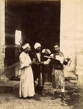 Photo Hyppolite Arnoux Albuminé Egypte Vendeur de Limonade Vers 1870/80
