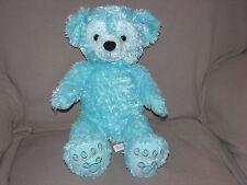 "Walt Disney World 17"" Plush Aqua Mint Green Hidden Mickey Pre-Duffy Bear Stuffed"