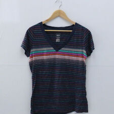 Waist Length Striped Plus Size Graphic T-Shirts for Women