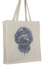 Cockapoo Cockerpoo Black Dog Cotton Bag with Gusset Xtra Space Perfect Gift