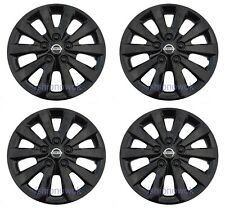 "SET (4pcs) BLACK 16"" Hubcap Wheelcover Fits 2010-2020 NISSAN SENTRA ALTIMA"