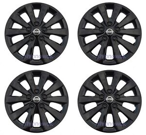 "SET (4pcs) BLACK 16"" Hubcap Wheelcover Fits 2010-2020 NISSAN SENTRA ALTIMA"
