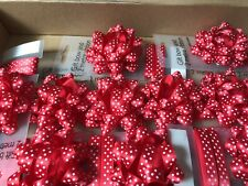 12 John Lewis Red Bow And Ribbon Sets New