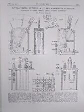 Lever Operated Switch Gear Made In Manchester: 1908 Engineering Magazine Print