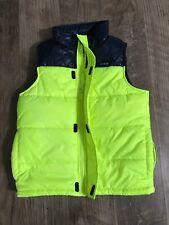 Oshkosh B'Gosh Boys Winter Vest Neon Yellow Blue Size 8