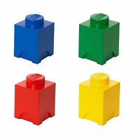 Lego Storage Brick Small Box 1 Knob In 4 Colours Red Yellow Green Or Blue NEW