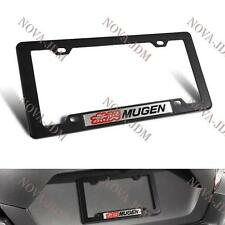 1PCS Mugen Car Trunk Emblem with ABS License Plate Tag Frame for Honda Civic Si