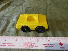 Vintage Fisher Price Little People 930 952 Single all yellow car vehicle trunk