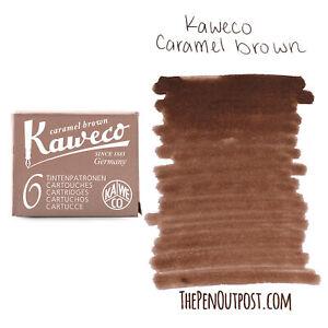 Kaweco Ink Cartridges - Pack of 6 - Caramel Brown