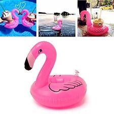 6X Flamingo schwimmend Aufblasbar Getränk können Pool Badespielzeug Halter Neu