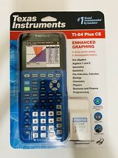New ListingTexas Instruments Ti-84 Plus Ce Enhanced Graphing Calculator Blue Rechargeable