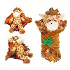 Travel Security Baby Giraffe Blanket Stuffed Animal Plush Toy NEW