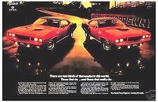 1971 Plymouth Cuda MOPAR Michigan print NHRA original gift car ad 1970 1972