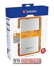 HARD DISK ESTERNO VERBATIM 2,5'' 1TB Store 'n' Go USB3.0 53071 Argento