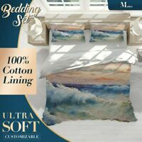 Wave Cloud Art Classic Colourful Quilt Cover King Bed Single Double Queen Size