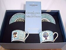 Wedgwood Teacup & Saucer Set Celebration of the Millennium 18th Century Box Set