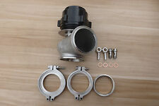 NEW WASTEGATE 60MM EXTERNAL WASTEGATE MVS BLACK V-BAND Turbocharge
