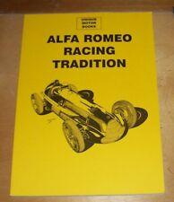 Alfa Romeo Racing tradición reimpresión de artículo de la revista libro bloque de memoria superior 112 páginas