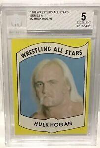 1982 Wrestling All Stars Hulk Hogan Rookie #2 BGS 5 Running Wild On You Brother