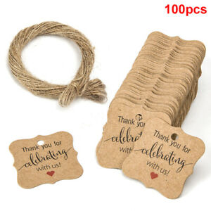 100pcs Pack Thank You For Sharing Our Special Day Gift Wedding Favour Tags