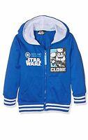 Boys Kids Star wars Zipped Hooded Sweatshirt Yoda Jumper Jacket Age 4-10Yrs