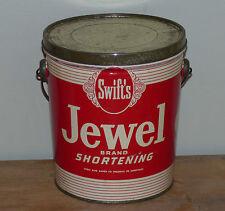 Antique 5lbs Canadian SWIFT'S Bijou Jewel Brand shortening lard tin FREE SHIP!