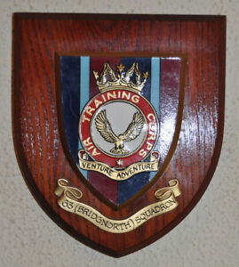 63 Bridgnorth Squadron Air Training Corps plaque crest shield ATC RAF Cadets