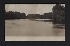 Oxford Mills Iowa IA 1909 RPPC Wapsie River Pool above Oxford Mills Dam