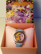 My little pony movie watch stainless steel blue colour leather strap easy read.