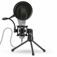 Microphone  Filter Holder Desktop Stick Tripod Stand Anti-Spray Net Set