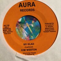 Rare Motown 45 KIM WESTON God Bless America HEAR Northern Soul Aura Records