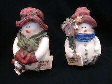 JUBILEE GIFTWARE CHRISTMAS RESIN 2PC SNOWMAN  FIGURINES
