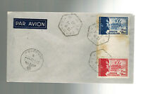1943 France Cover Waffen SS Foreign Legion Volunteer Stamps with Tab
