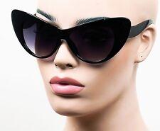 Oversized Extra Large Cat Eye Sunglasses Jackie O Vintage Style Smoke Black K569