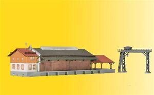 kibri 36606 Spur Z Güterhalle mit Überladekran und Rampe #NEU in OVP#