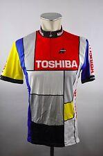 Assos Toshiba vintage Bike cycling jersey maglia maillot Rad Trikot XL S3