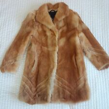 REAL RED FOX FUR COAT SIZE L