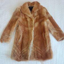 REAL red fox fur coat taglia L