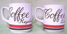 Mugs 2 Coffee Regular Lite Coffee Cups Red Brown Vintage Japan