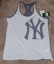 NEW NY New York Yankees Tank Top Shirt XL X-Large NIKE Women Ladies Dri Fit NEW