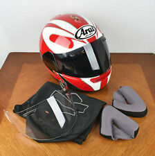 Arai Signet/e Snell Dot Red and White Helmet XL (61-62mm) with extras