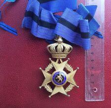 Belgique - Superbe Croix de Commandeur de l'Ordre de Léopold II - bilingue