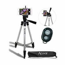 """Acuvar 50"""" Inch Aluminum Camera Tripod with Universal Smartphone Mount and Wi..."""